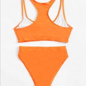 Swim - Orange two piece bathing suit